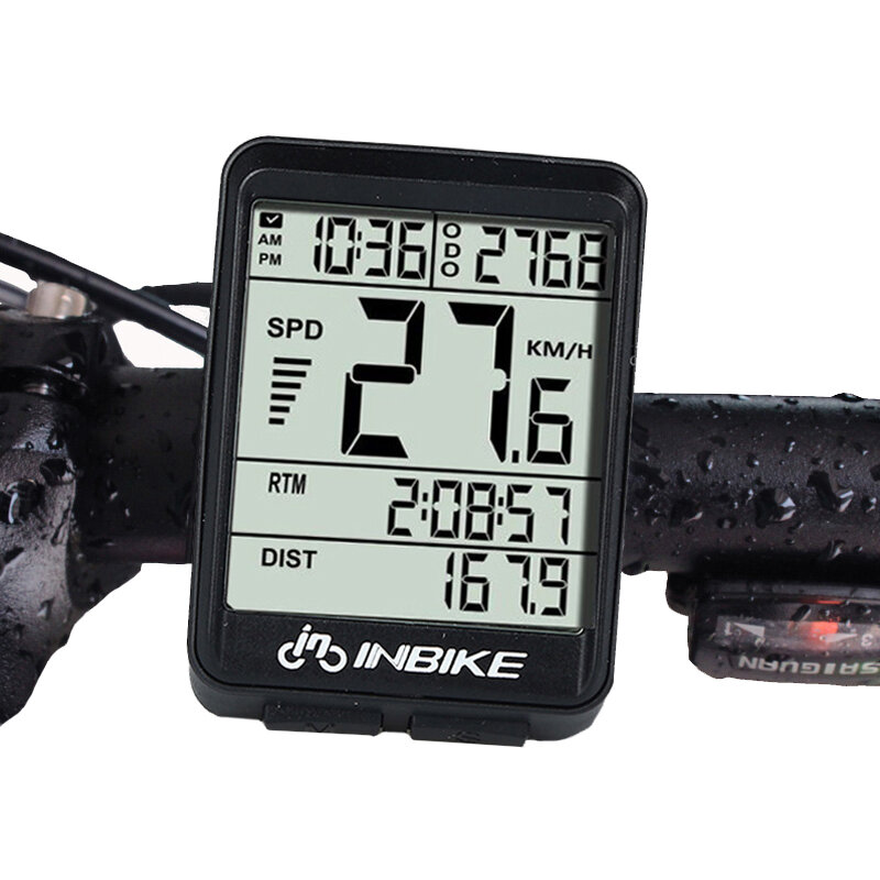 INBIKE IN321 Bicycle Computer Waterproof Wireless LCD Odometer Bicycle Speedometer Backlight