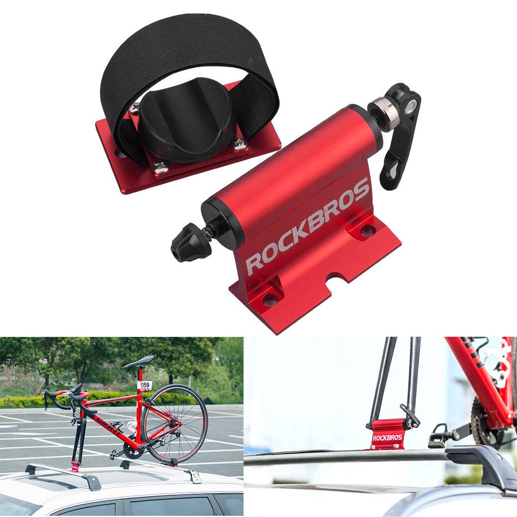 ROCKBROS Bicycle Rack Bike Car Roof Racks Carrier Quick-release Alloy Fork Car Bike Block Alloy Mount For MTB Road Bike Accessories