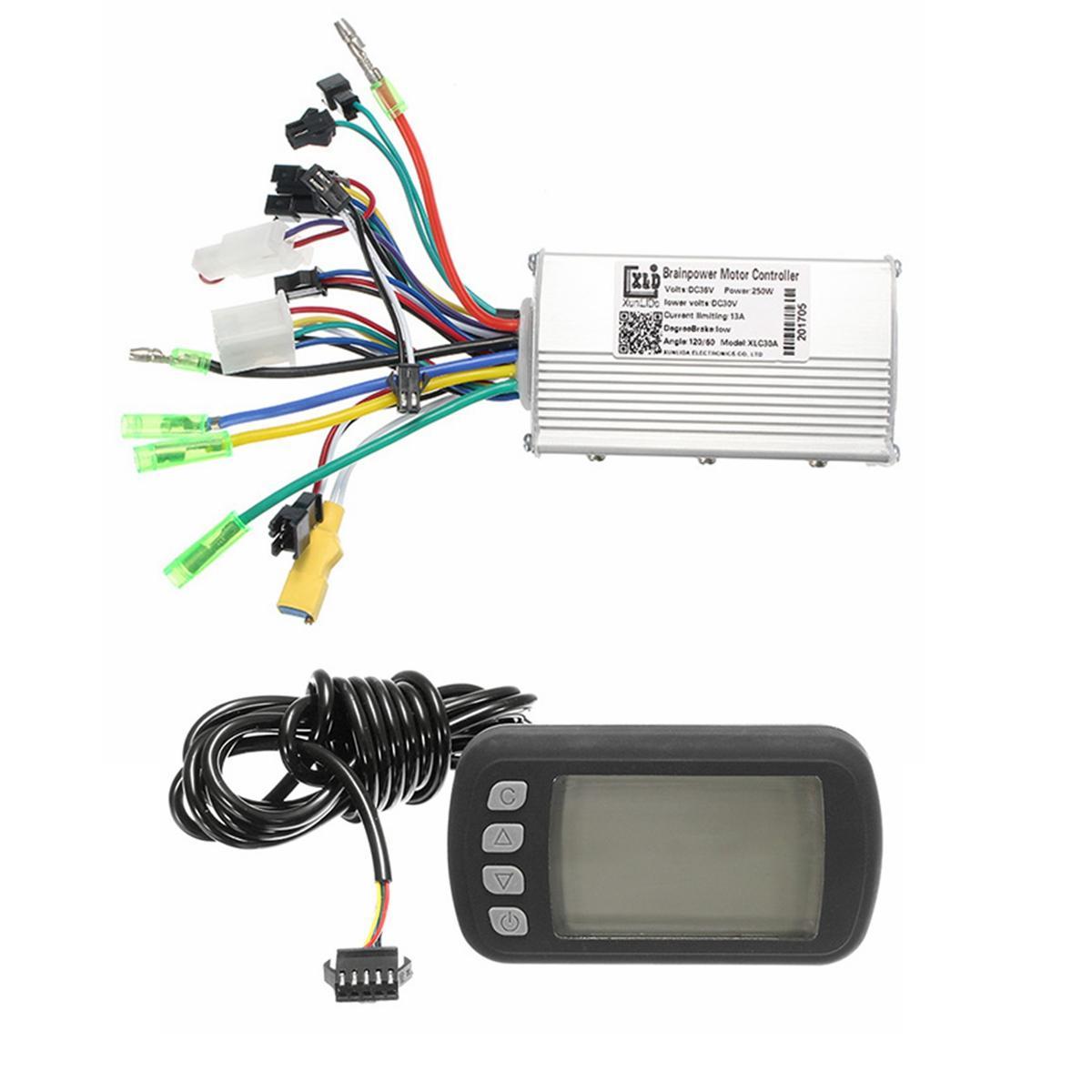 24V36V48V250W350W BLDC Controlador de Velocidad de Motor LCD Pantalla para MTB E-Bicicleta Scooter Modelo A