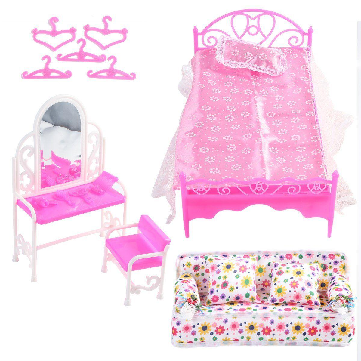 6x Sofa Chair Table Lamp Living Room Set Dolls House Miniature Furniture Toy