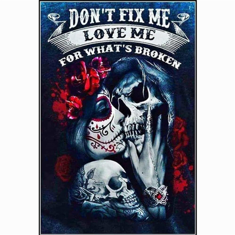 5D DIY Diamond Painting Love Skeleton Embroidery Handmade Craft Drawing Wall Hanging Home Living Room Ornament Supplies