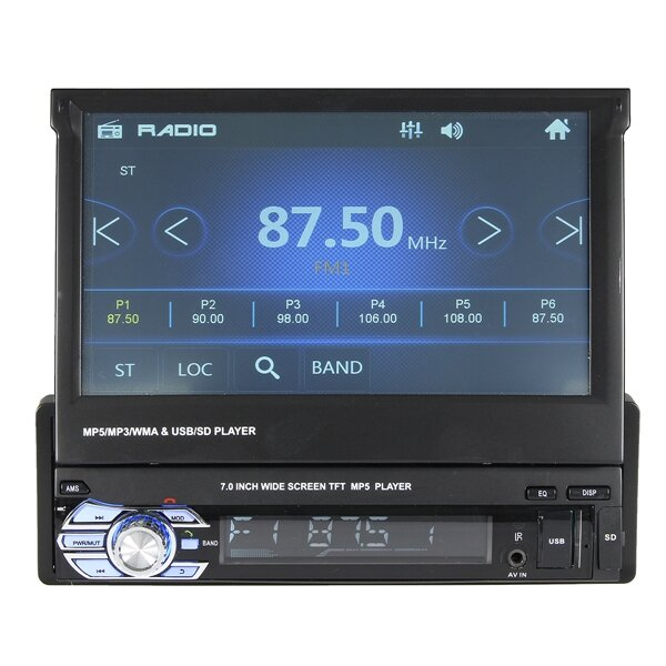 7/'/' Touch Screen Bluetooth Car MP3 MP5 Video Player USB AUX /& Rear View Camera
