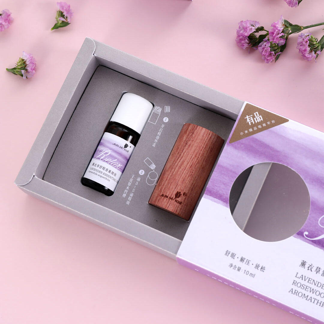 ALIN DE ROSE Natural Bulgarian Lavender Sleeping Essential Oil Aromatherapy Relax with Wood Diffuser for Skin Care Spa Massage from Xiaomi Ecosystem