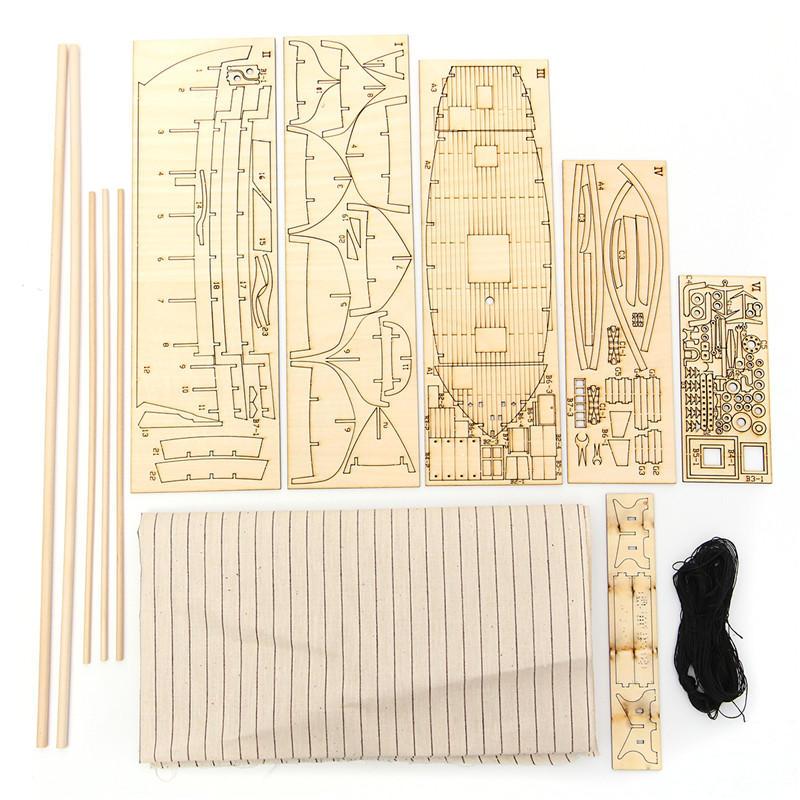 Wooden Assembly Ship Model Building DIY Fishing Boat Laser Decoration Kits Toy G