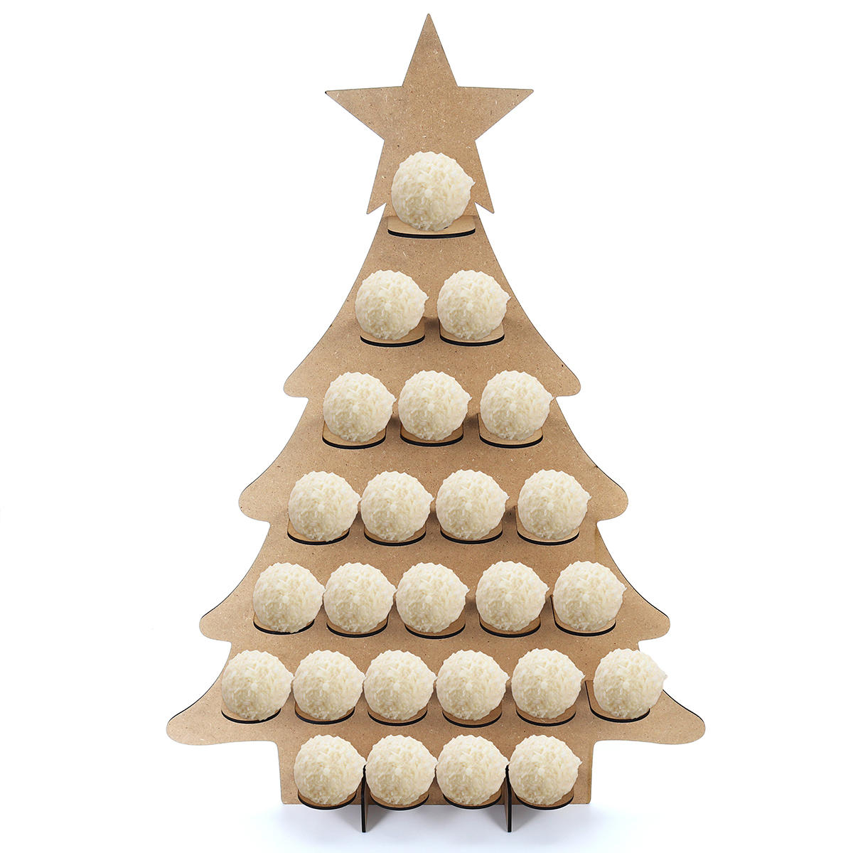 Wooden Family Advent Calendar Christmas Tree 25 Chocolates Stand Rack DIY Decorations COD