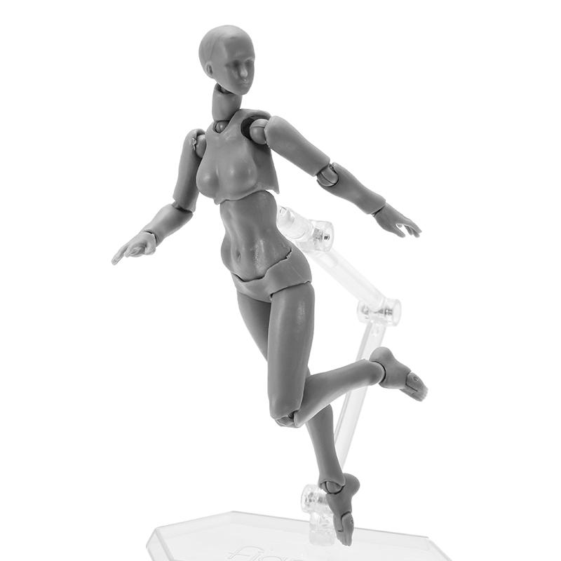 BJD SHF Figures Body Figma 2.0 Deluxe Edition Gray Female Style Toys Joint Moved With Weapons
