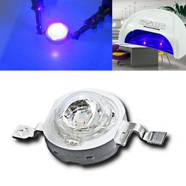 LUSTREON 3W UV Purple LED COB Bead Light High Power Ultraviolet DIY Lamp Chip