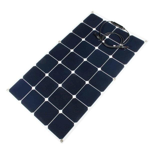 Batterie panneau solaire 80w 12v mono semi-flexible de charge pour voiture intelligente bateau rv caravane