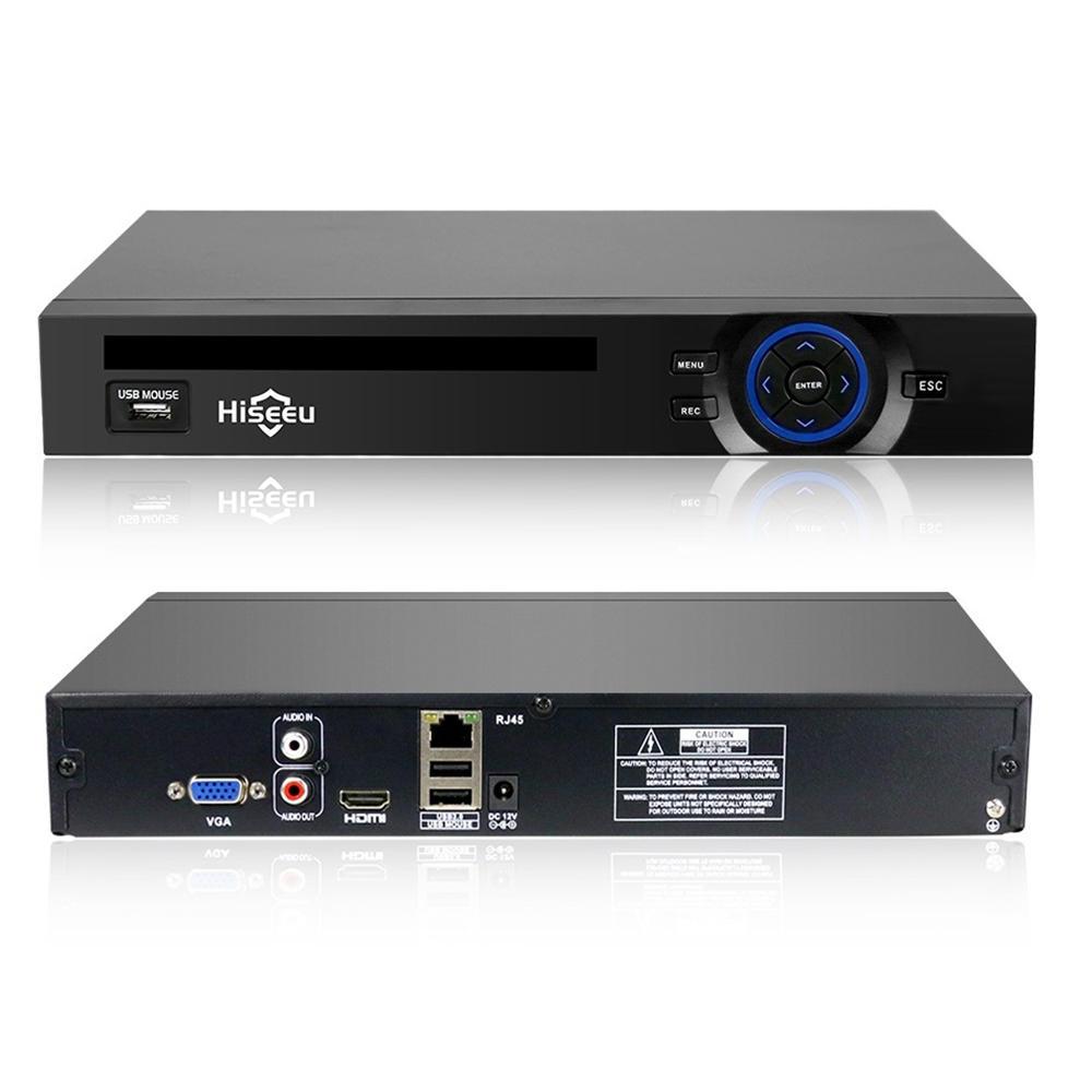 Hiseeu 32CH 2HDD 5MP 1080P 4K CCTV H 265 NVR DVR Network Video Recorder  ONVIF for IP P2P2 SATA Camera