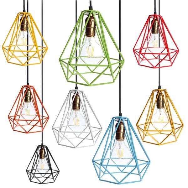 Loft Industriemetallrahmen Decke hängende Hängeleuchte Lampion Cage Fixture