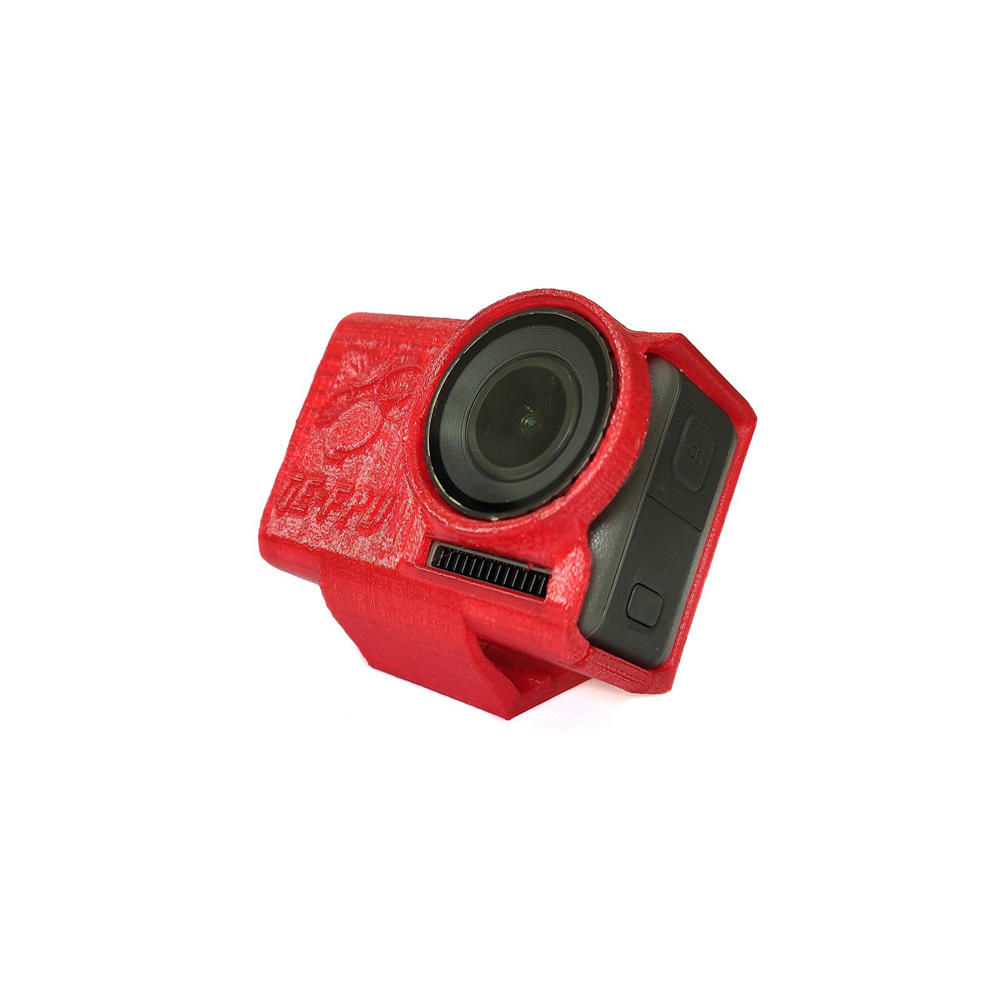 GE FPV 3D-Printed TPU Inclined Camera Mount 30 Degree Protective Case Holder Black/Red for OSMO Action Camera Accessories FPV Racing RC Drone
