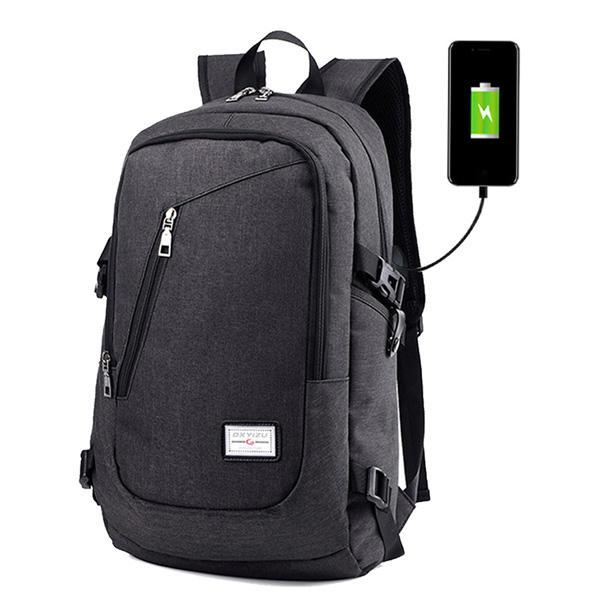 a2fe9c5f24d680 Men Multi-function Daily Rucksack 15 inch Laptop Backpack with USB Charging  Port - Black COD