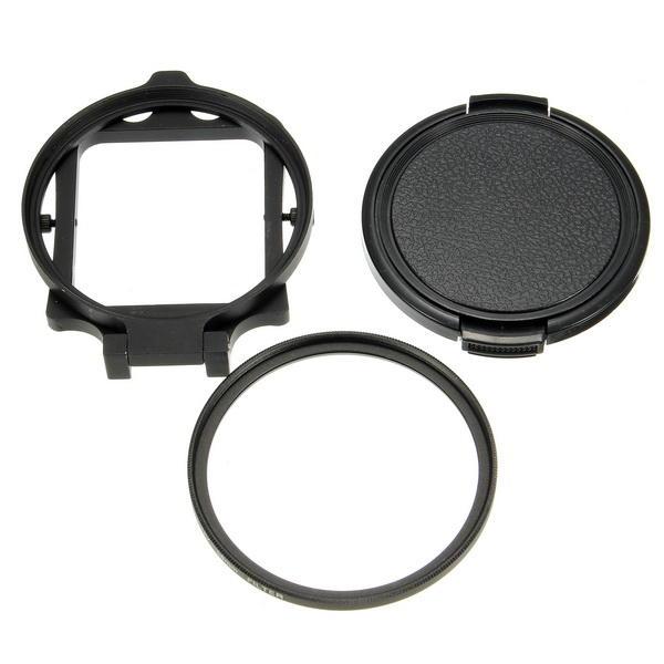 LINGLE 58mm UV Filter Adapter Ring Cap for Gopro Hero 5 Black Waterproof Housing Case