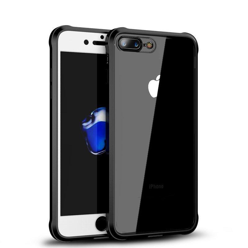 iPaky Full Body Front og Back Clear Akryl & TPU Veske Med Herdet Glassfilm For iPhone 8 Plus/7 Plus