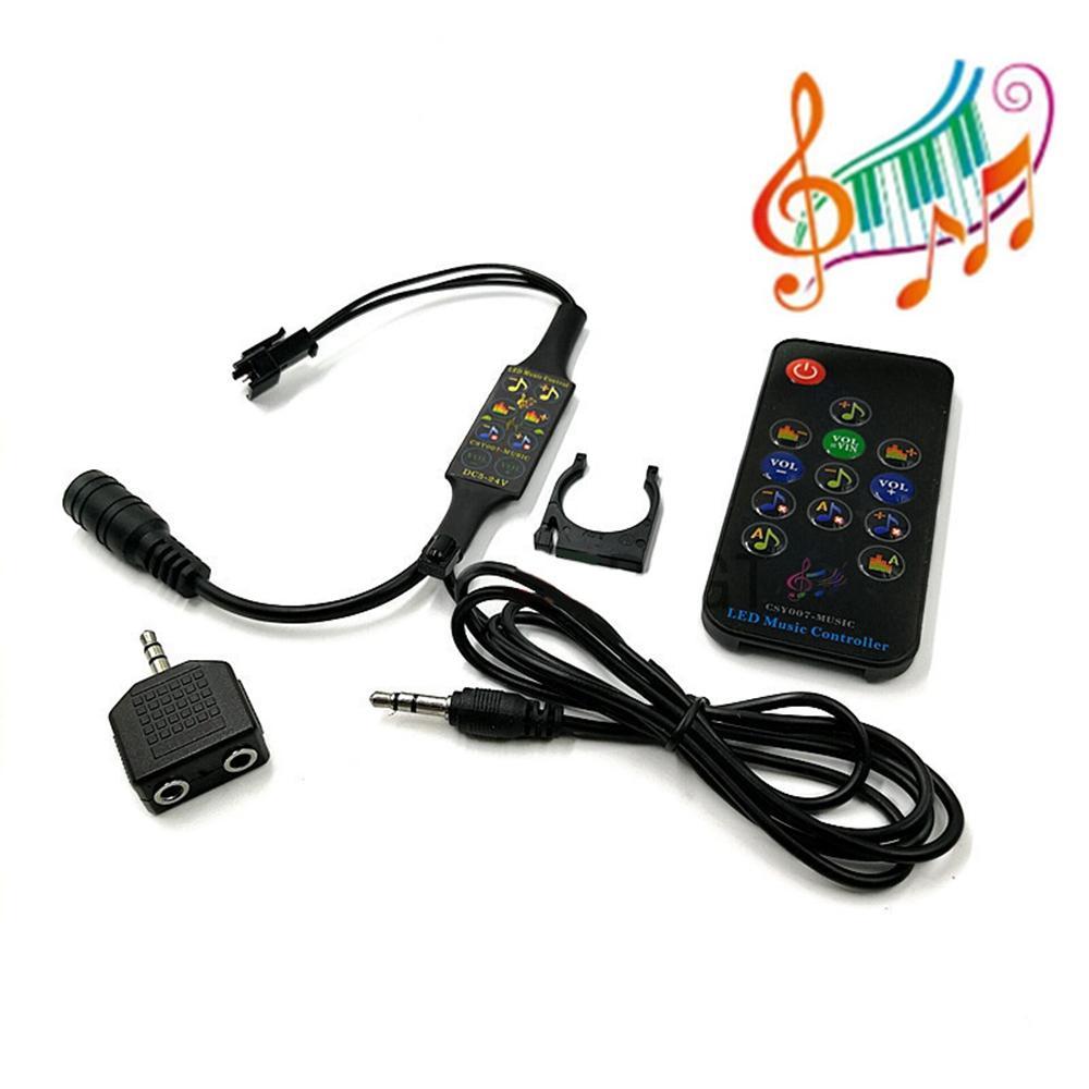 LUSTREON Mini Music Dream LED Strip Controller 13 Keys Remote Control WS2812B WS2811 Matrix Panel DC5-24V