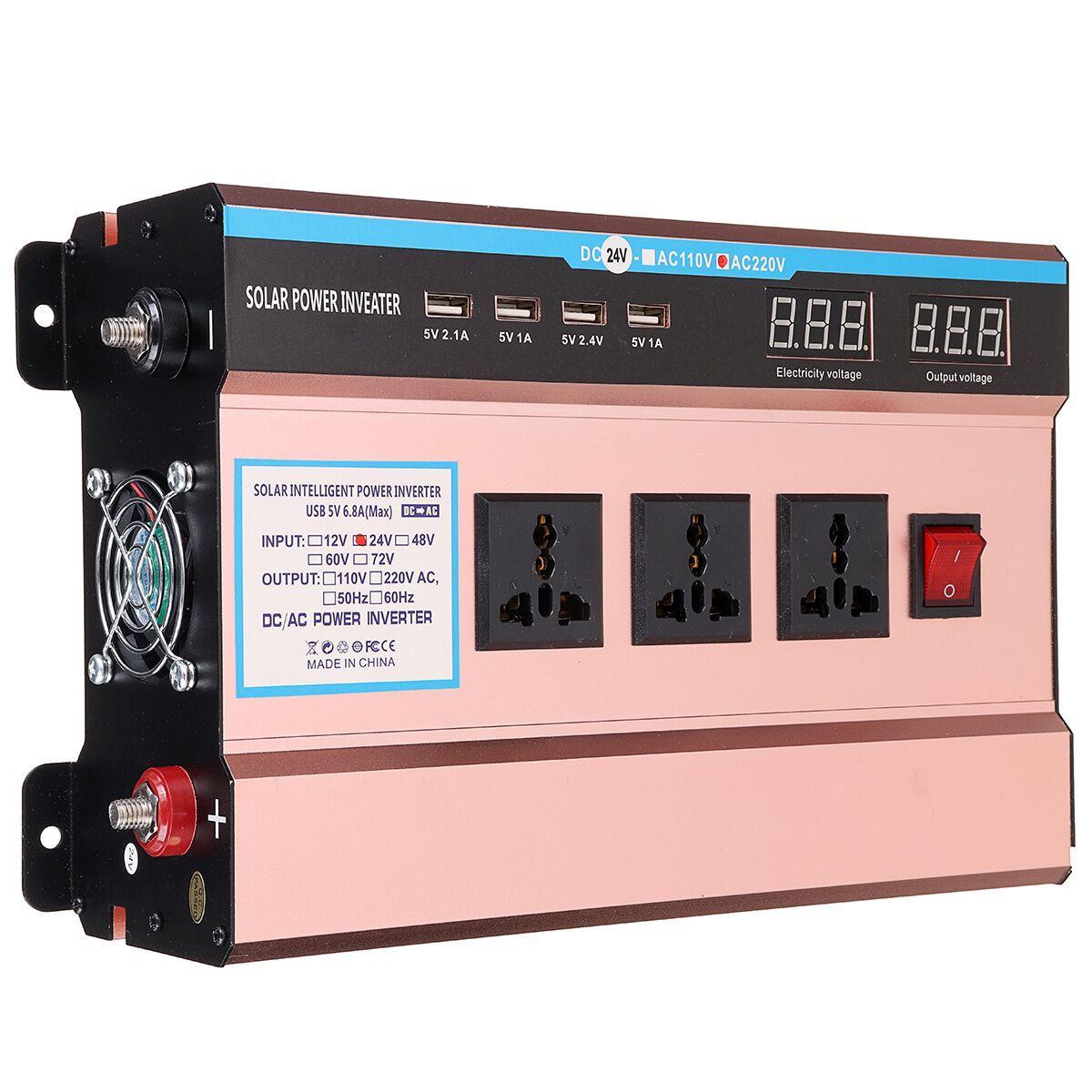 Inverters For Sale >> 10000w Peak Solar Power Inverter Dc 12 24v To Ac 220v Modified Sine Wave Usb Converter