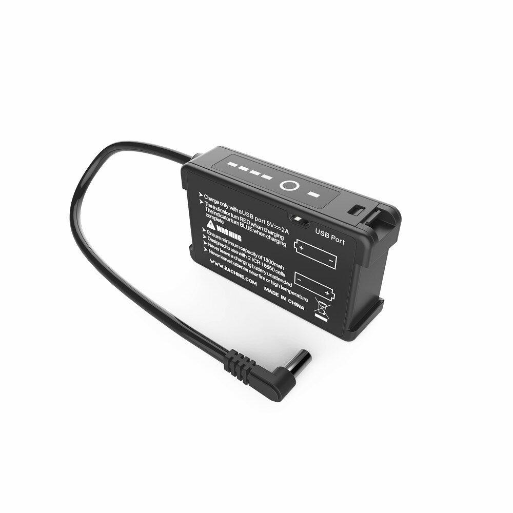 Banggood coupon: Eachine 7.4V 18650 Li-ion Cell Bateria Caso com carregador USB integrado para EV200D EV300D EV300O DJI Fatshark Skyzone