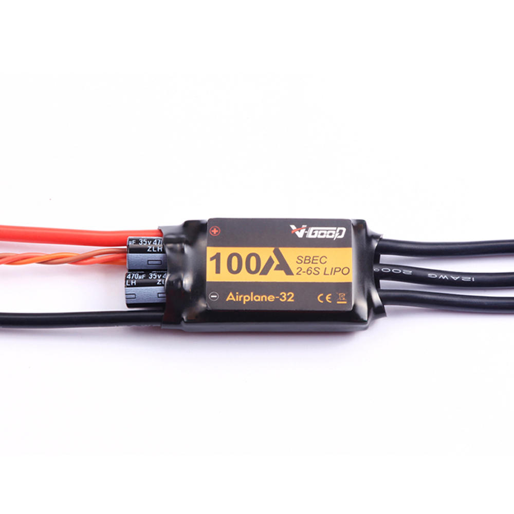 VGOOD 100A 2-6S 32-Bit Brushless ESC With 5A SBEC for Fixed Wing RC Airplane