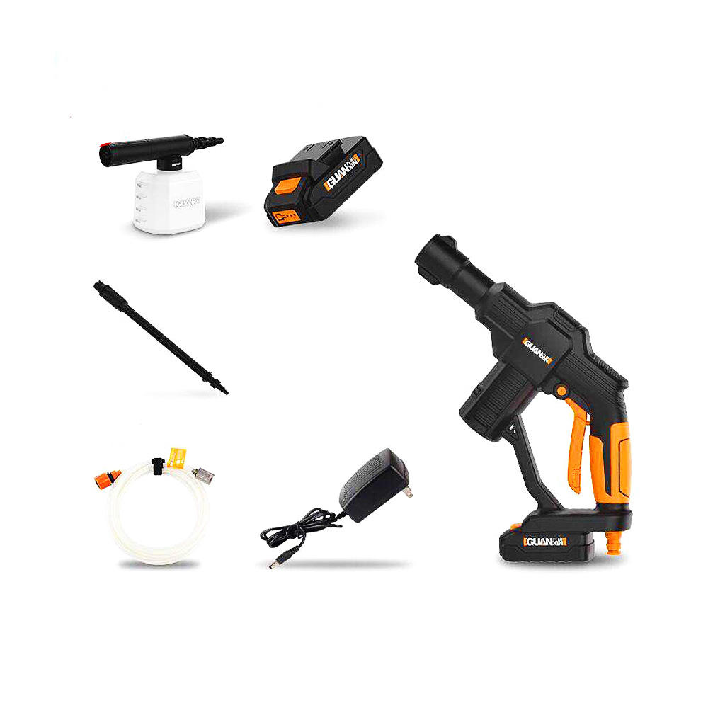 GUANXIN™ 12V Lithium Battery Car Portable Cordless High Pressure Washer Cleaner Basic Version