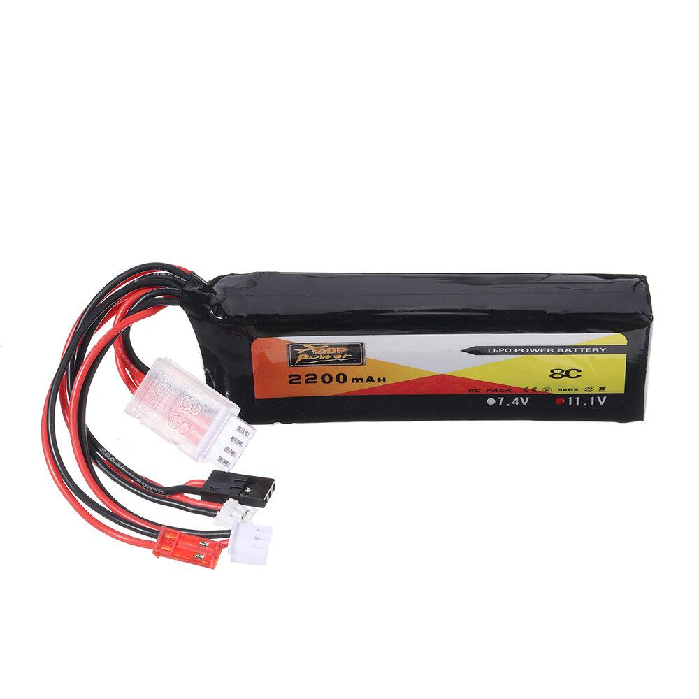 ZOP Power 11.1V 2200mAh 3S 8C Lipo Батарея JR JST FUBEBA Разъем штекер для передатчика