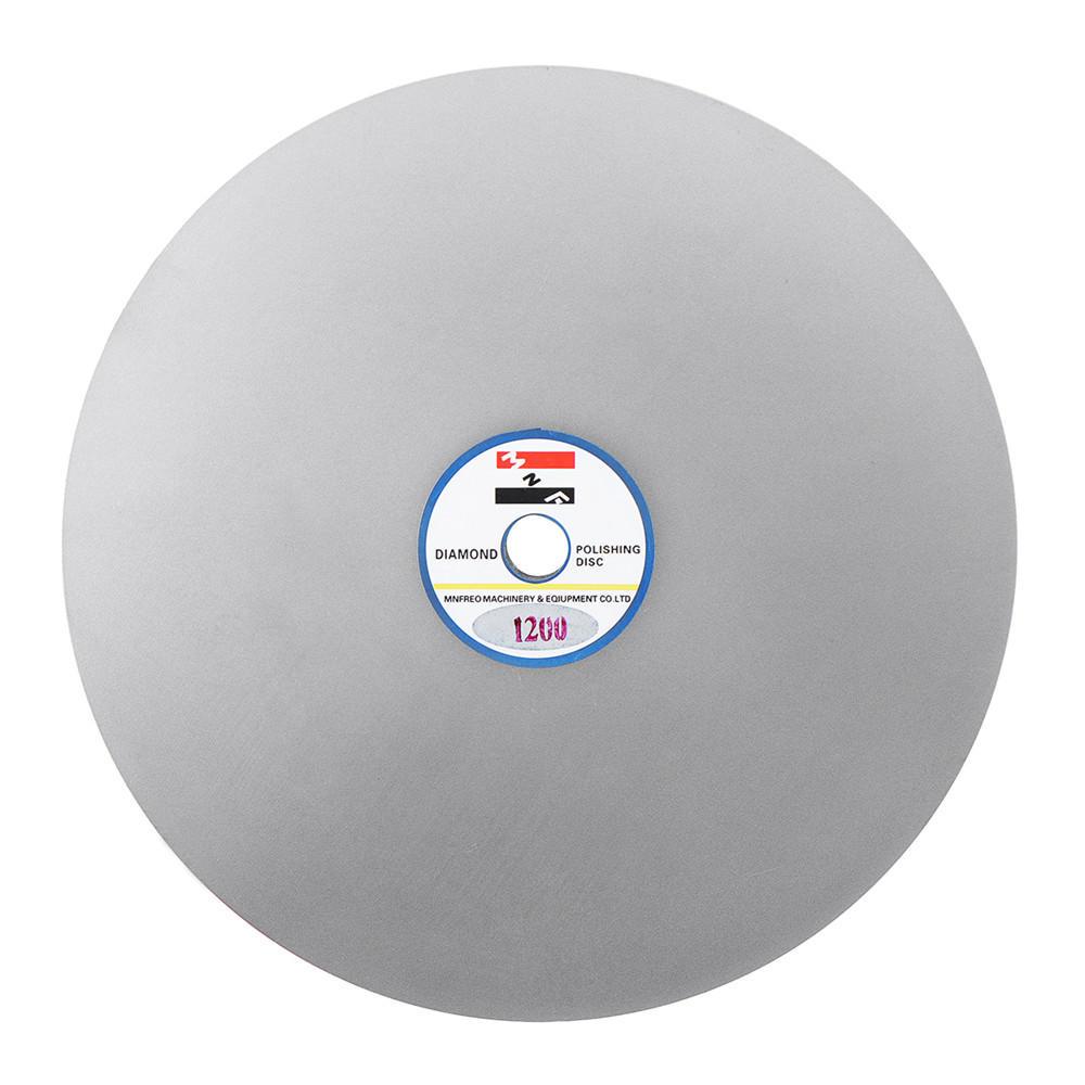 8 Inch Diameter Grit 1200 Diamond Coated Flat Lap Jewelry Grinding Wheel  Polishing Sanding Disc
