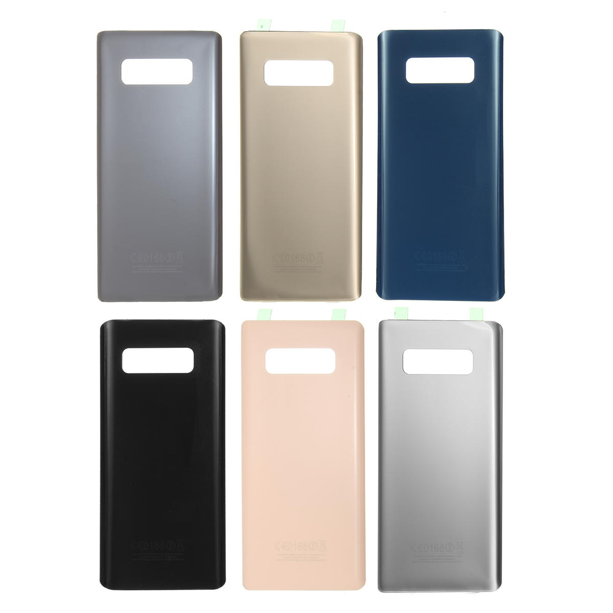 8 Samsung Note Battery Frame Lens Camera Back With For Cover Galaxy Glass