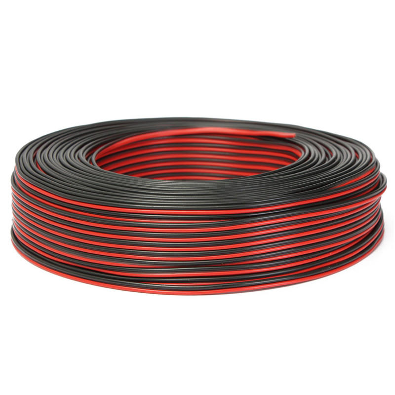 Best Speaker Wire >> 100m 2 X 0 50mm Audio Cable Loudspeaker Speaker Wire Black Red Hifi Car Motorcycle