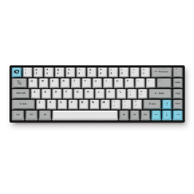 AKKO 3068 - Silent bluetooth Wired Dual Mode PBT Keycap Cherry MX Switch  Mechanical Keyboard