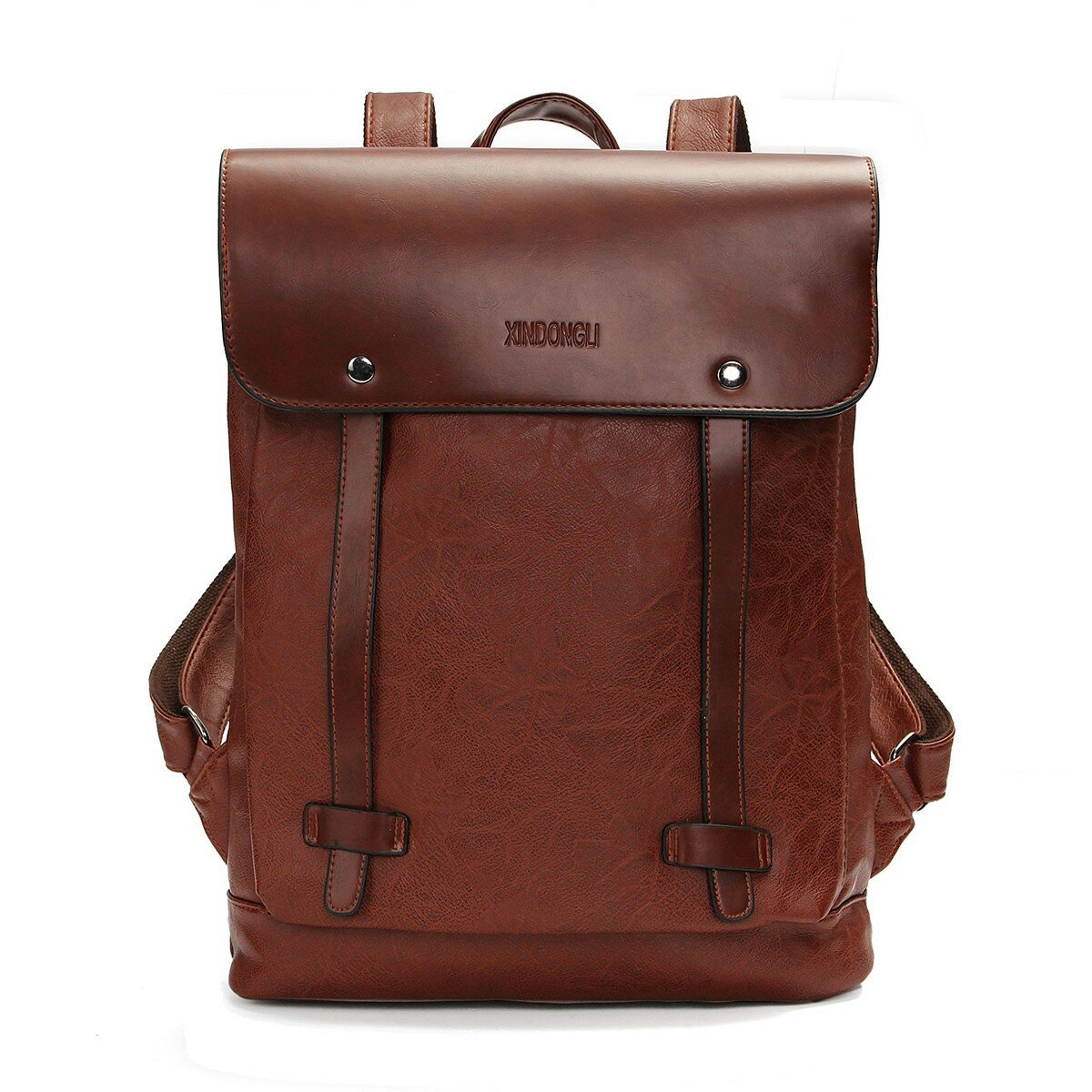 8a3ea35c2880 Men Women Vintage Backpack PU Leather Laptop bags School Bag Shoulder Bags