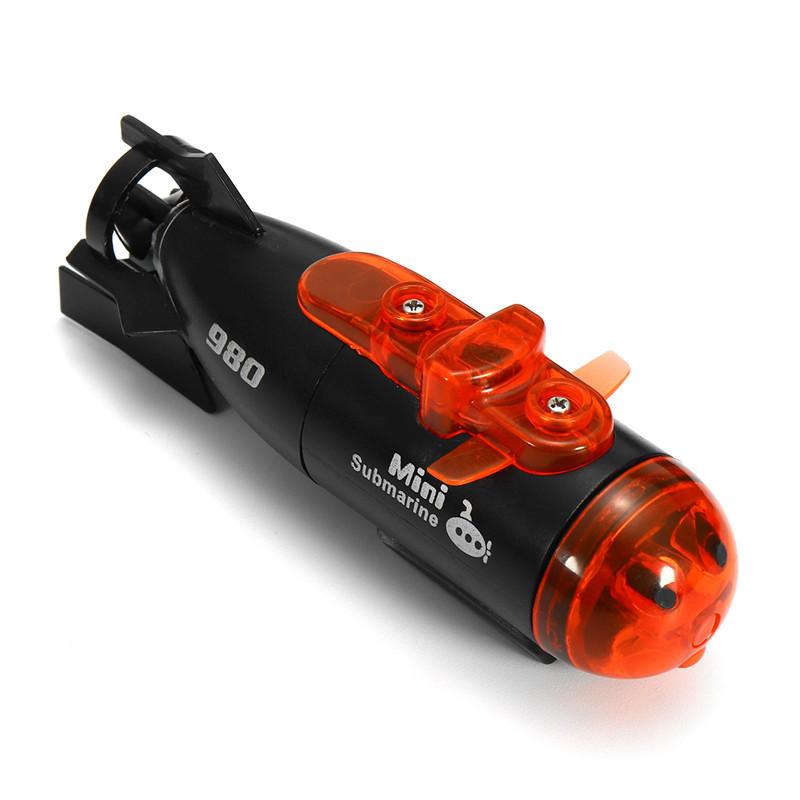 미니 마이크로 라디오 원격 제어 RC 잠수함 선박 LED 가벼운 장난감 선물과 함께
