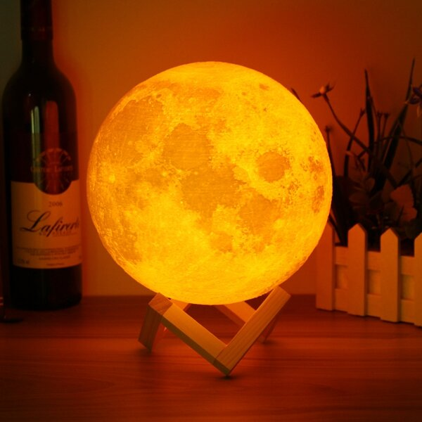18cm Touch Sensor 3d Moon Table Lamp Usb Color Changing Led Luna Night Light Kids Gift Sale Banggood Com Sold Out Arrival Notice