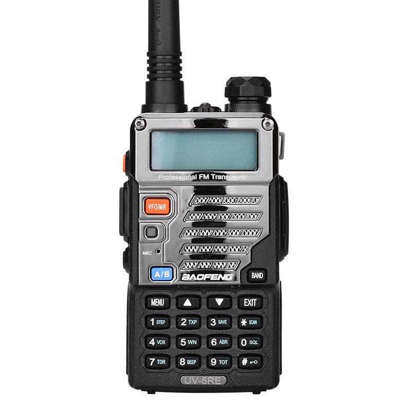 BAOFENG BF-UV5RE 128 Canal 400-520MHz / 136-174 MHz Dual Banda Rádio Portátil de Duas Vias Walkie Talkie
