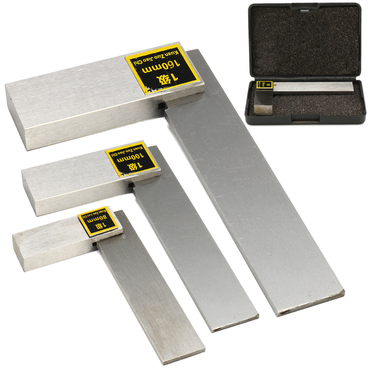 Machinist Bevel Square 90° Right Angle Ruler High Precision Design Tool