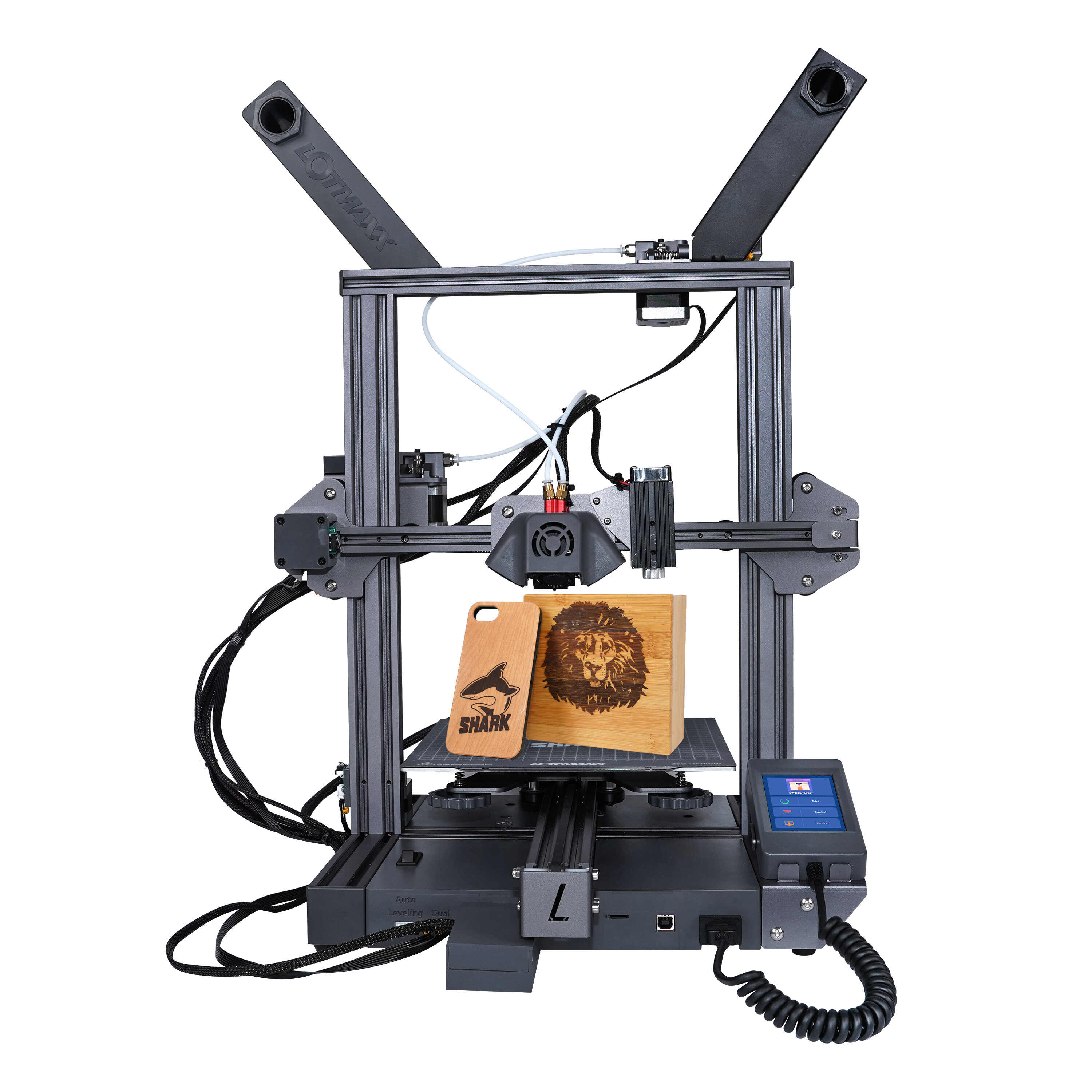 LOTMAXX SC-10 SHARK 3D Printer 235*235*265mm Print Size Support Auto Leveling/Dual Color Print/Laser Engraving With 8 Languages Translate - EU Plug