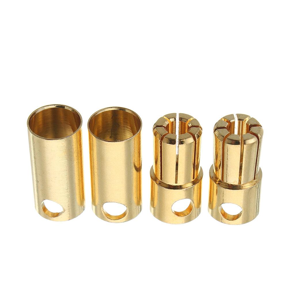 2 जोड़े 5.0 / 5.5 / 6.0 / 6.5 / 8.0 मिमी बुलेट कनेक्टर Banana Plug आरसी बैटरी / मोटो के लिए मल्टीरोटर स्पेयर पार्ट