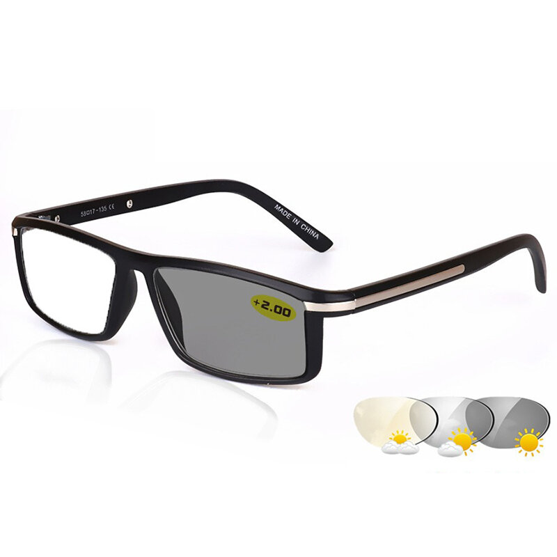 Men Women Light Sensitive Photo-Induced Lens Discoloration Reading Glasses For Indoor And Outdoor