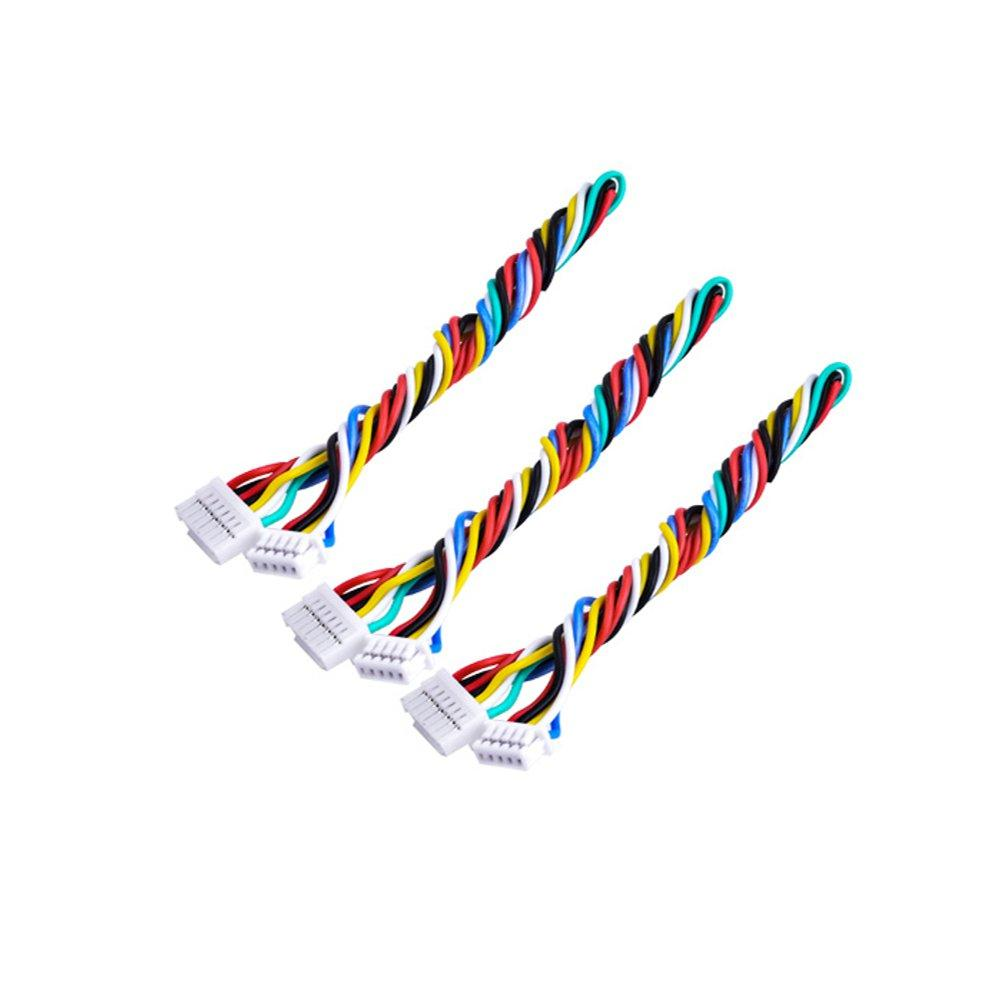 3PCS 7P 7 Pin Silicone Cable Wire For TBS UNIFY PRO HV/Race RunCam Swift 2 / Owl 2 FPV Camera