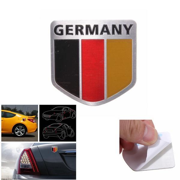 Aluminum Germany Flag Shield Car Emblem Badge Decals Sticker Truck Auto