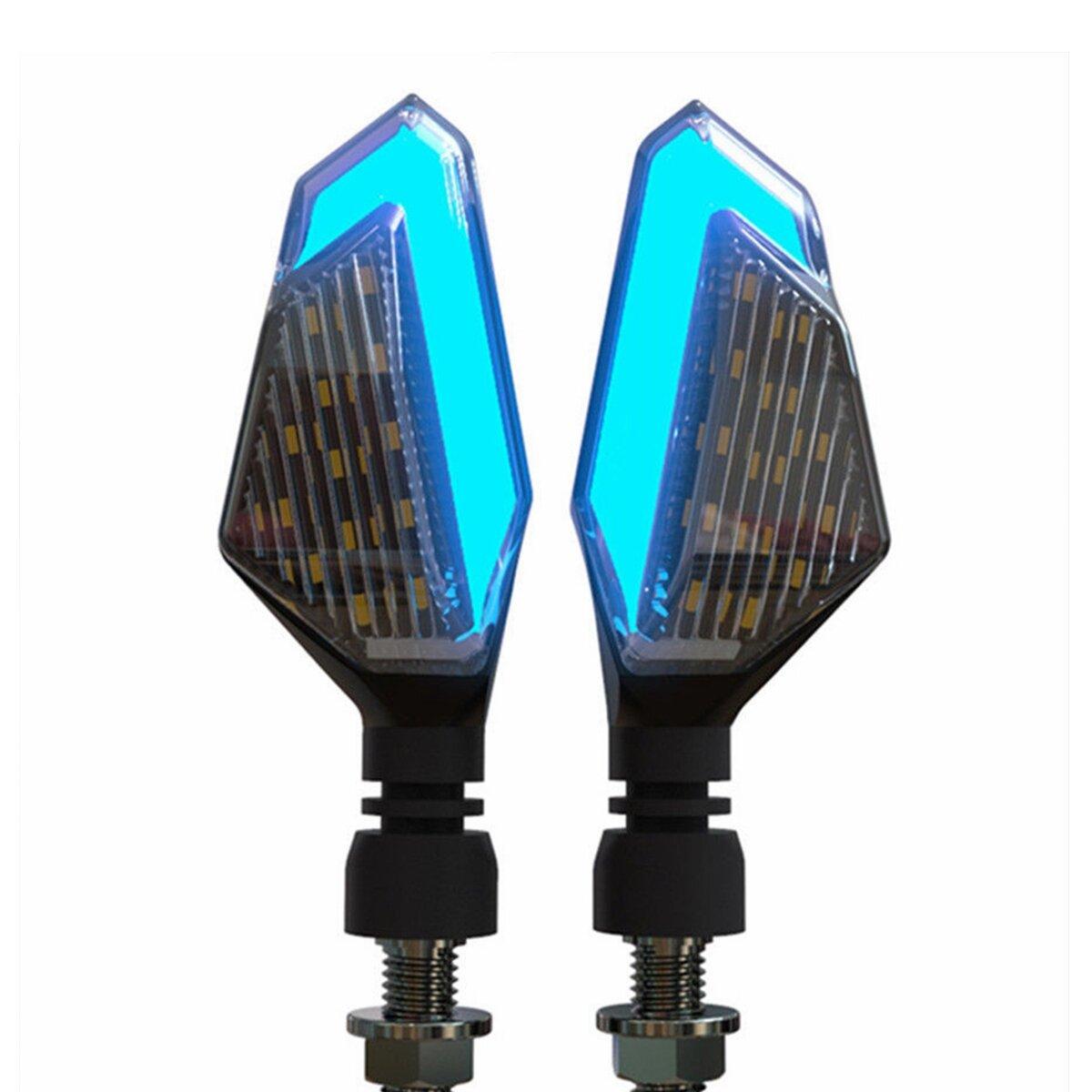 12V Motorcycle LED Turn Signal Lights Running Daytime Light Brightness DRL
