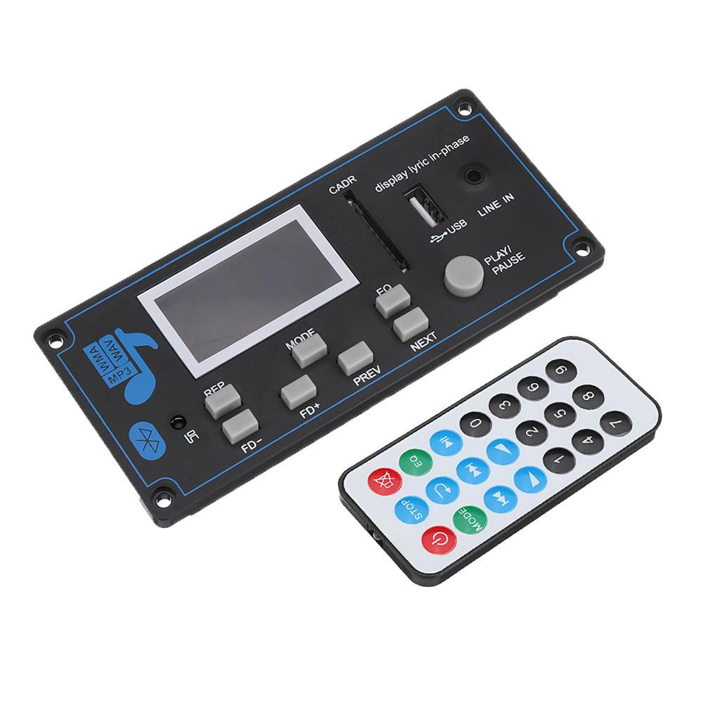 Bluetooth MP3 Ses Çözücü Kurulu WMA USB SD FM AUX Çözme Araba MP3 Modülü Şarkı Sözleri Senkronizasyon DIY Hoparlör Amp Ev Sineması