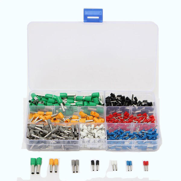 600pc Cord-end Bootlace Ferrule Terminal Kit with Crimping Tool