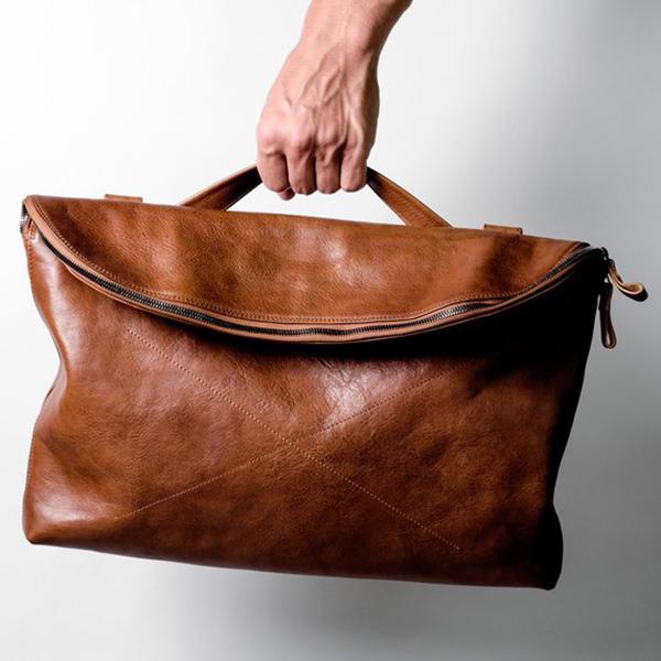 Ekphero  Men Handbag Casual Multifunction Foldable Solid Crossbody Bag