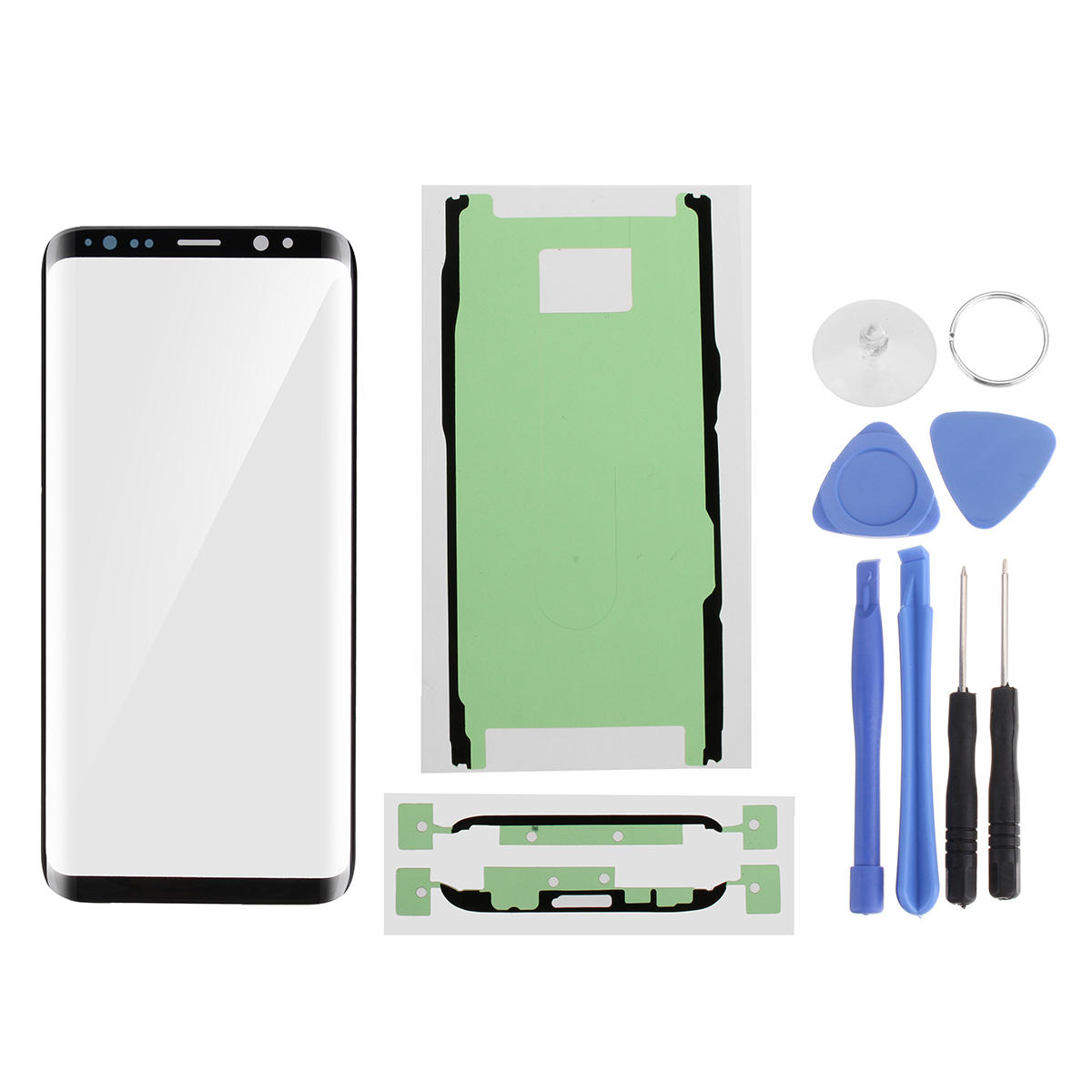 Front Outer Glass Screen Replacement + Adhesive + Tools for Samsung Galaxy S8/S8 Plus