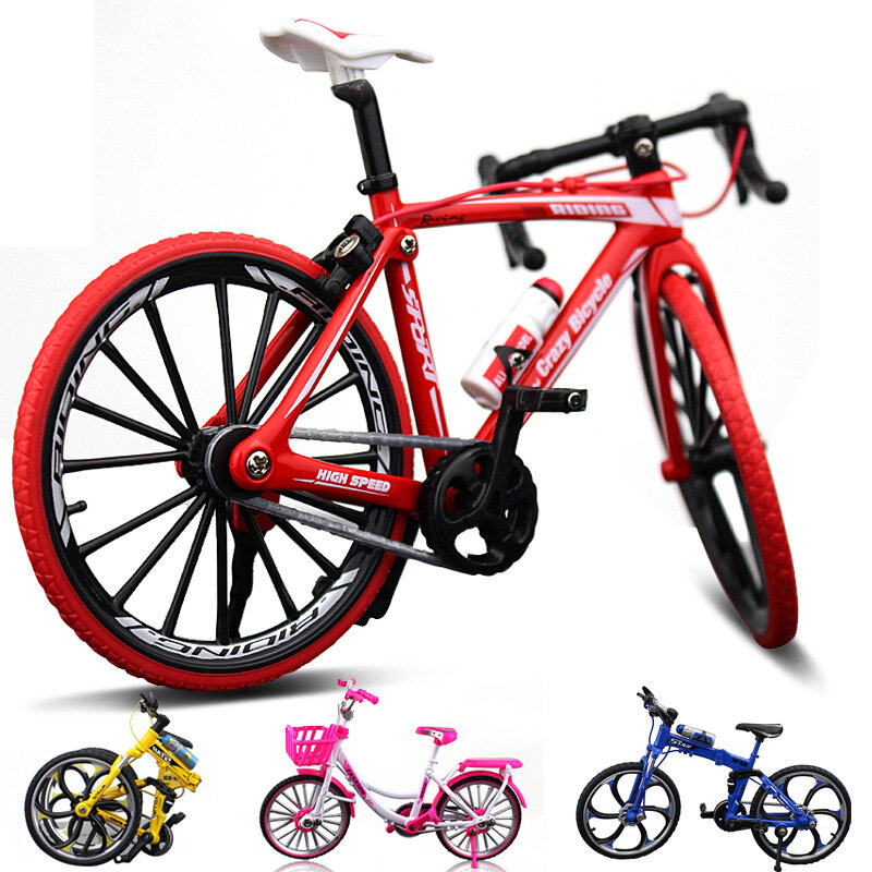1:10 Diecast Bicycle Model Toys Bend Racing Cycle Cross Mountain Bike Gift Decor Collection