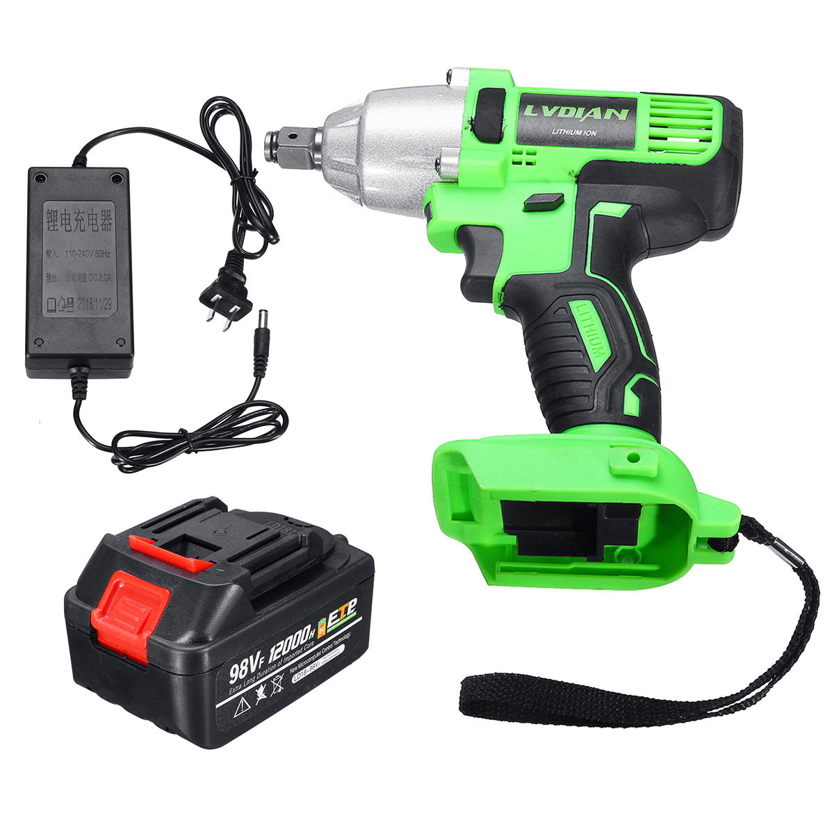98VF 110-240V Electric Wrench 12000mAh Electric Power Wrench Tool