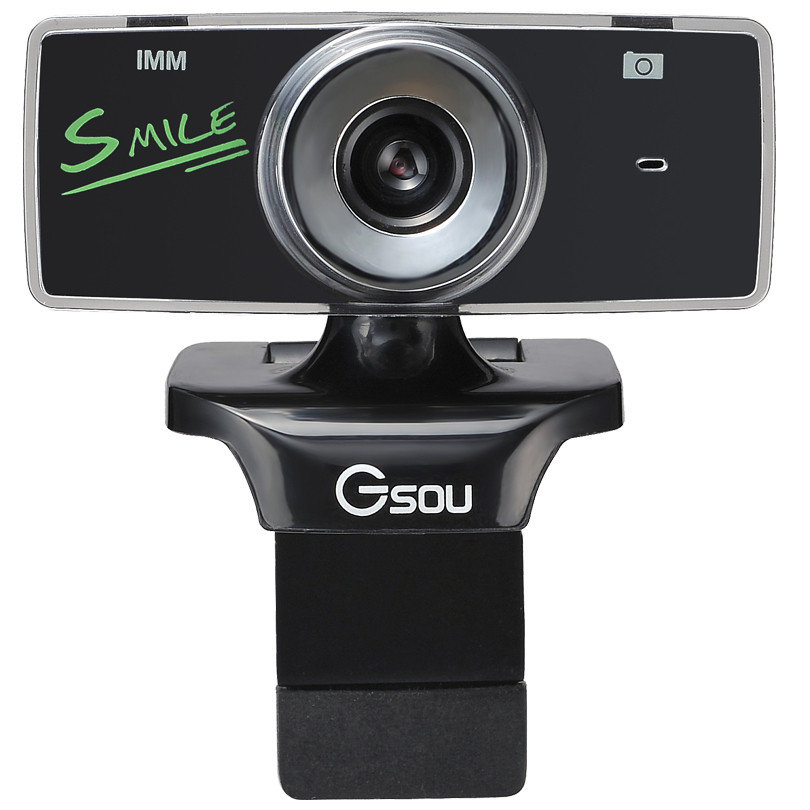 GSOU B18s USB 20 HD 12 Megapixels Webcam Free Drive Computer Camera with Microphone MIC