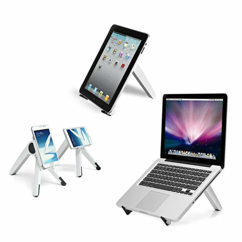 """Universal Roterbar Stand Holder For Iphone Samsung Smartphone 3 """"-6"""" iPad Tablet 7 """"-10"""" Laptop Under 14 """""""
