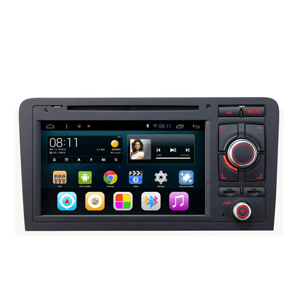 SA-703 Auto DVD Musik MP3 MP4 Player FM AUX im kapazitiven Touchscreen Android für Audi A3 2003 bis 20