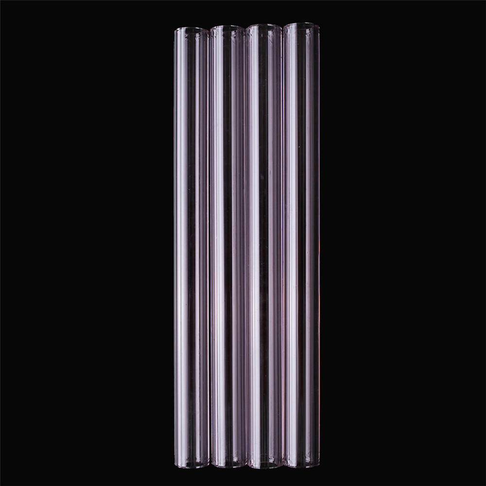 4Pcs 150mm Transparent Purple Borosilicate Glass Tube Tubing Pyrex Tubes  Blowing Tube Test Tube 12mm OD 2 2 Thick Wall