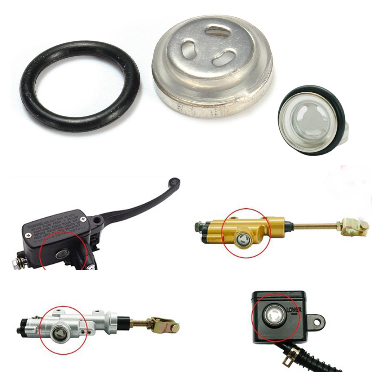 GLASS NEW SITE SIGHT GLASS INSTALLED MOTORCYCLE Clutch Brake MASTER CYLINDER